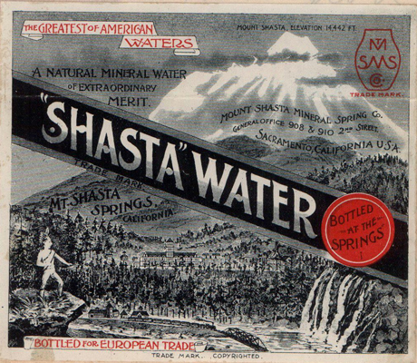 Shasta Water Trademark Sample from 1891, Trademark Records, Secretary of State, Corporations Division, Trademarks, 1888 to 2011, Washington State Archives, Digital Archives.