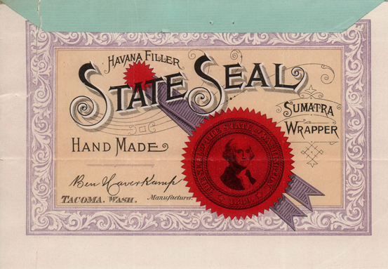State Seal, Secretary of State, Corporations Division, Trademarks, 1895, Office of the Secretary of State, Washington State Archives, Digital Archives.