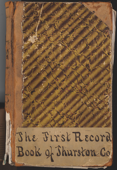 Thurston County's First Record Book, 1852-1857, Miscellaneous Family History Collection.