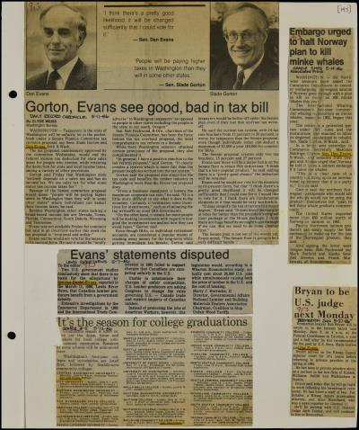 View Record - Senator Daniel J  Evans [Scrapbook 35], Jan  - June